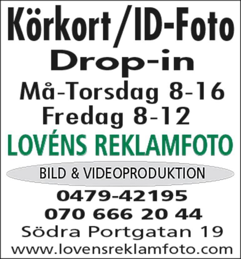 Lovéns Reklamfoto