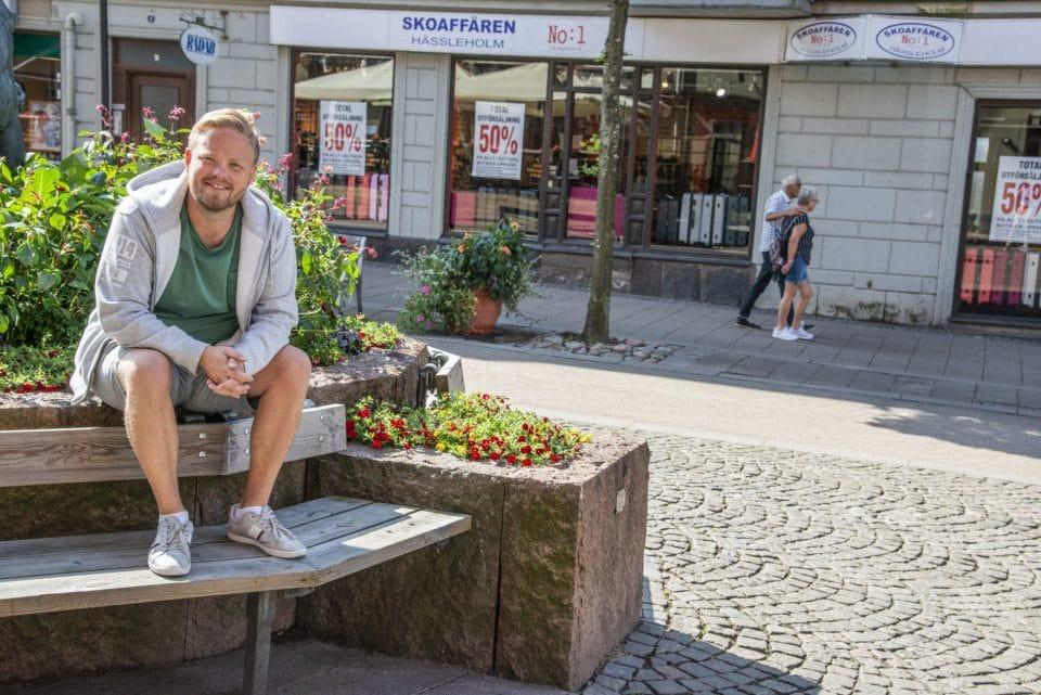 Johan Jönsson trivs i centrum