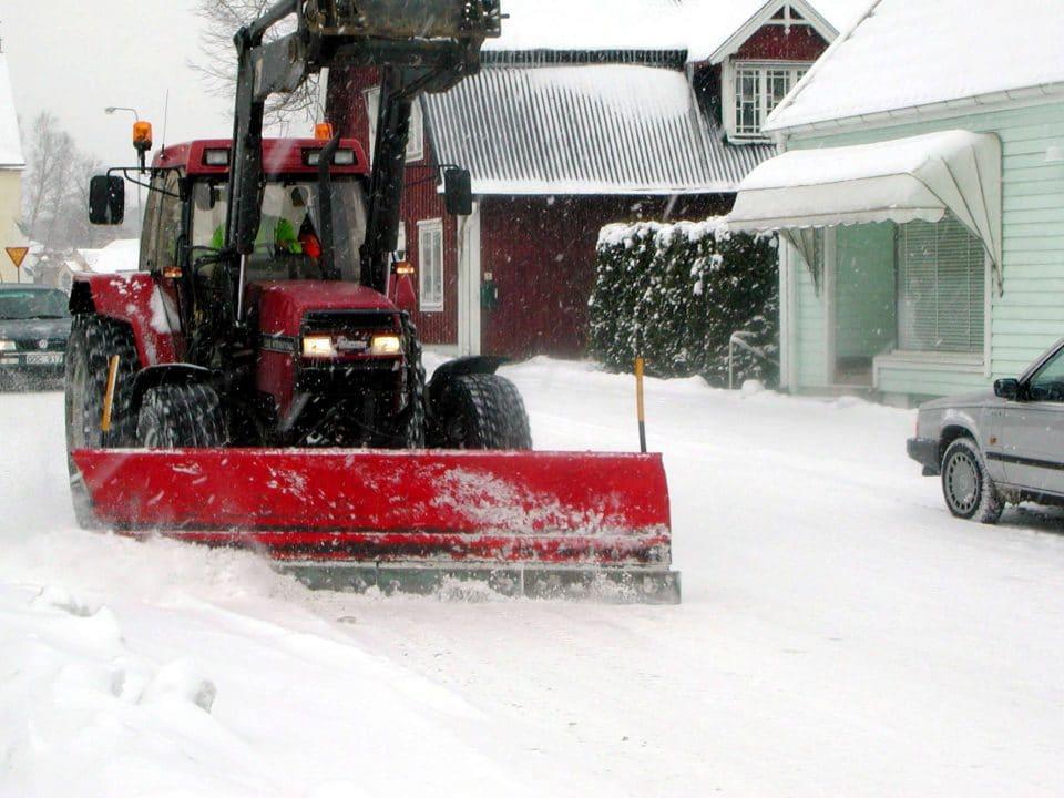Snöröjning i Hässleholm
