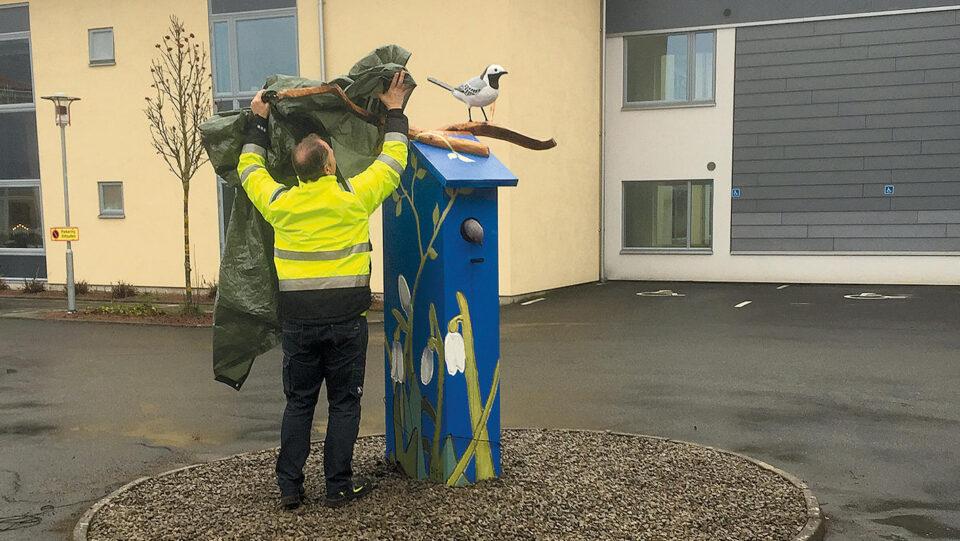 Invigning av konstverk på Rönnebacken