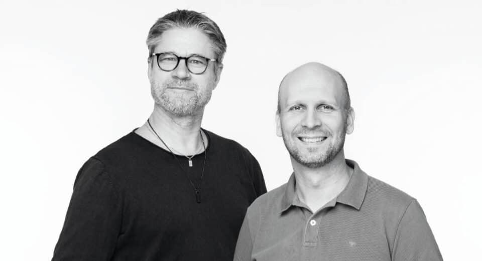 Fredrik och Ola svartvit fotograf Fredrik