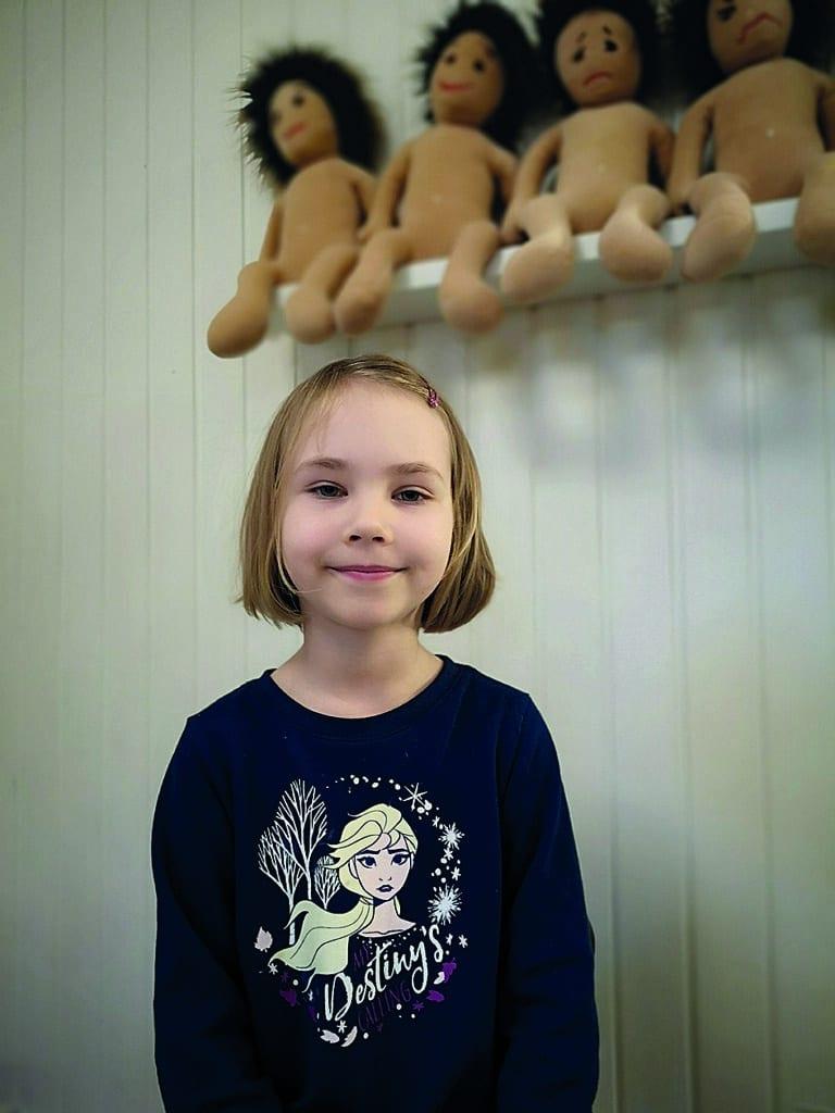 Nora 5 år
