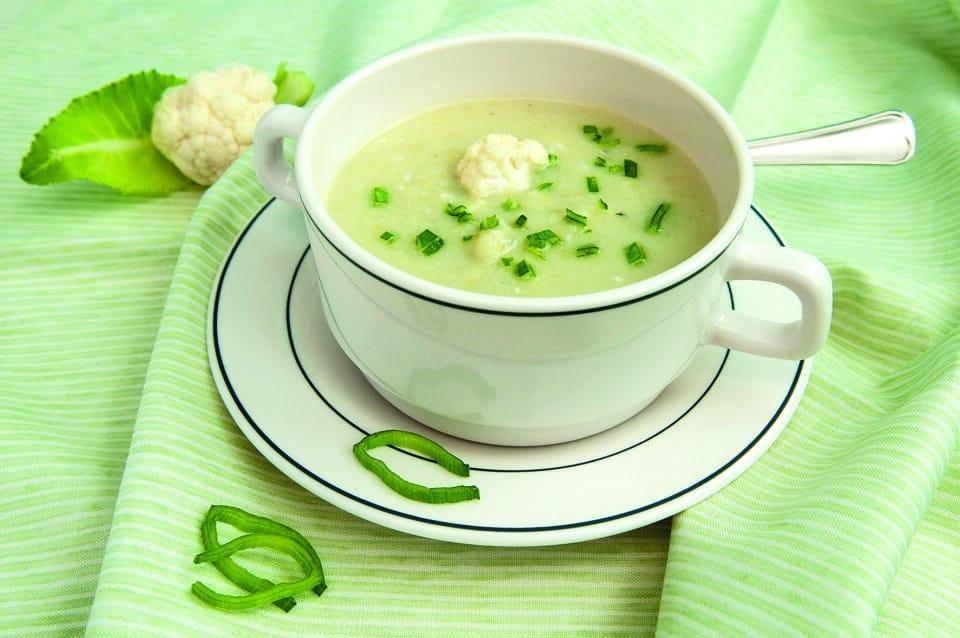 En skål med soppa