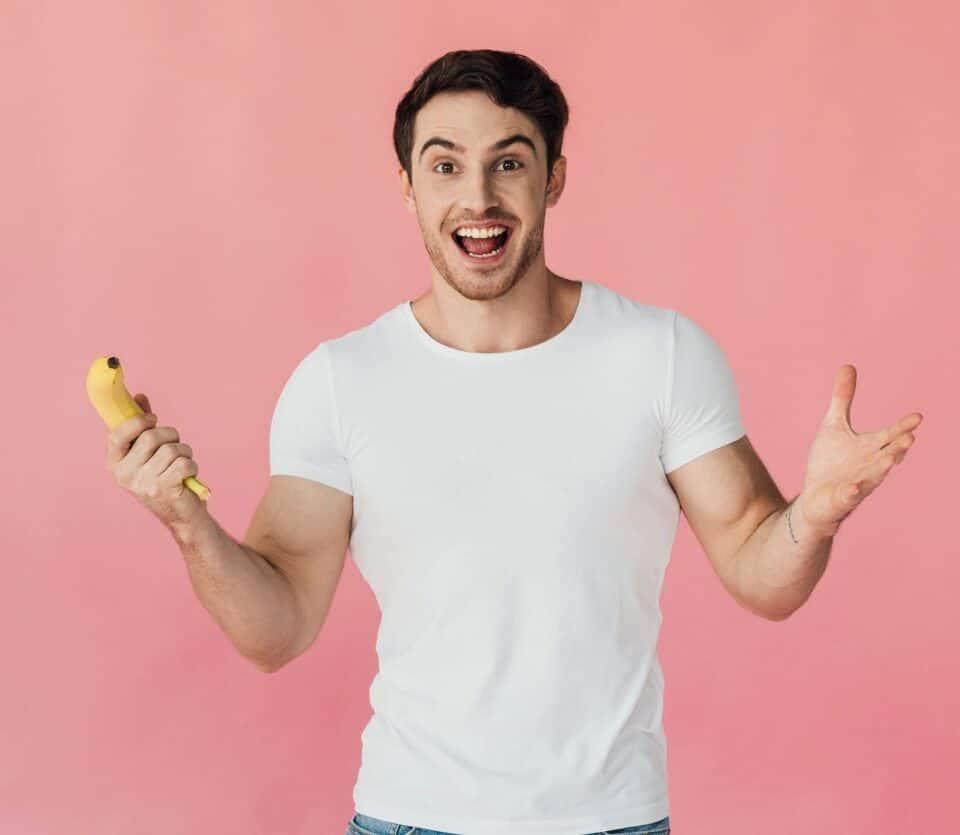 Singelman med banan