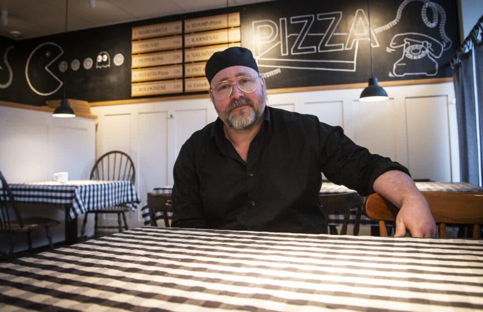 Fredrik Weikel på Freddes Pizza