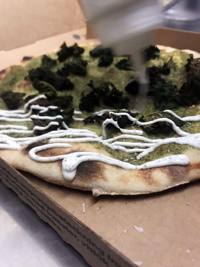 Pizza från Freddes Pizza i Osby