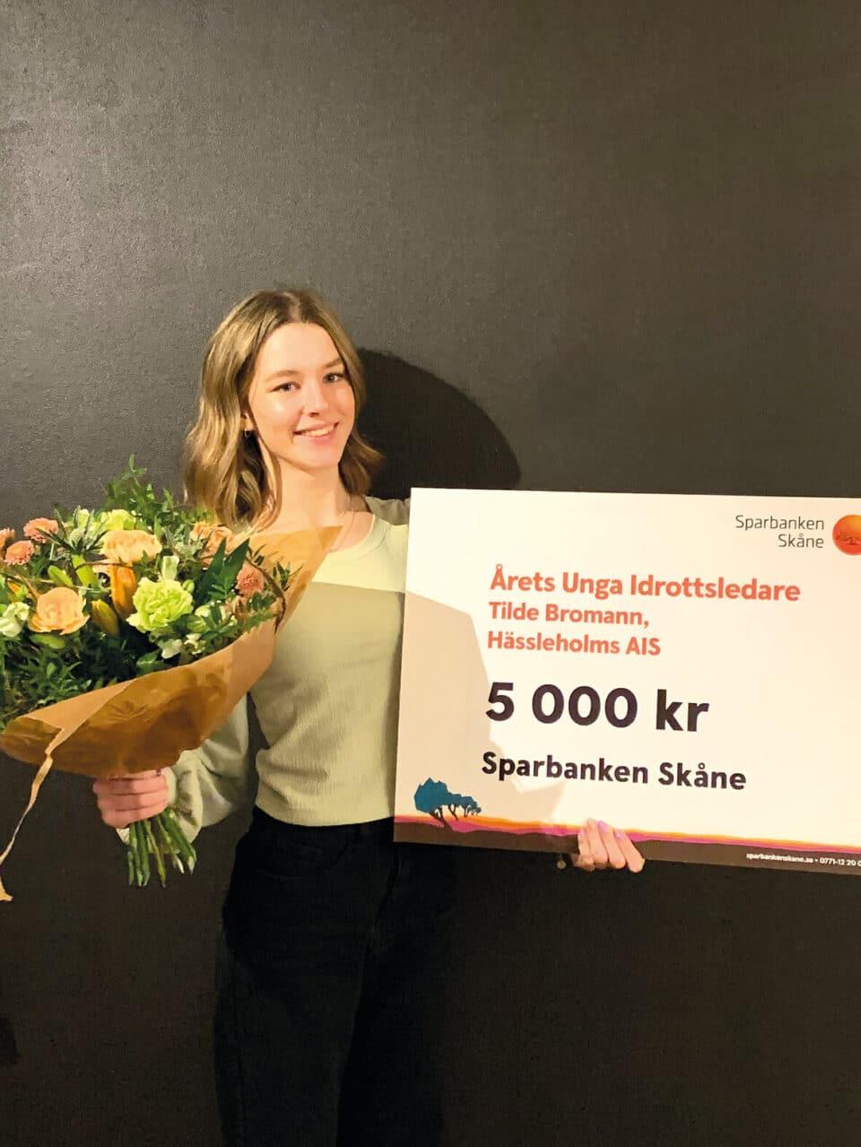 Tilde Bromann blev årets unga idrottsledare