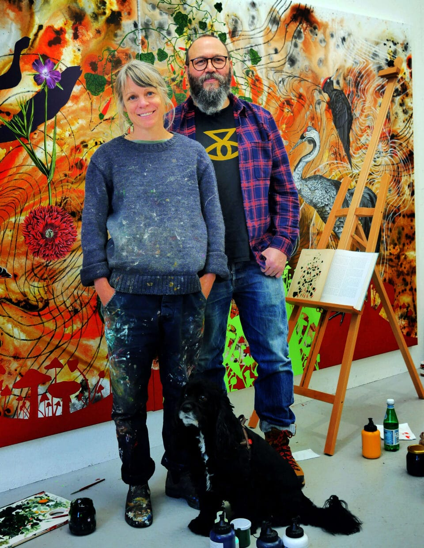 Färgstarka konstnärer - Anna och James