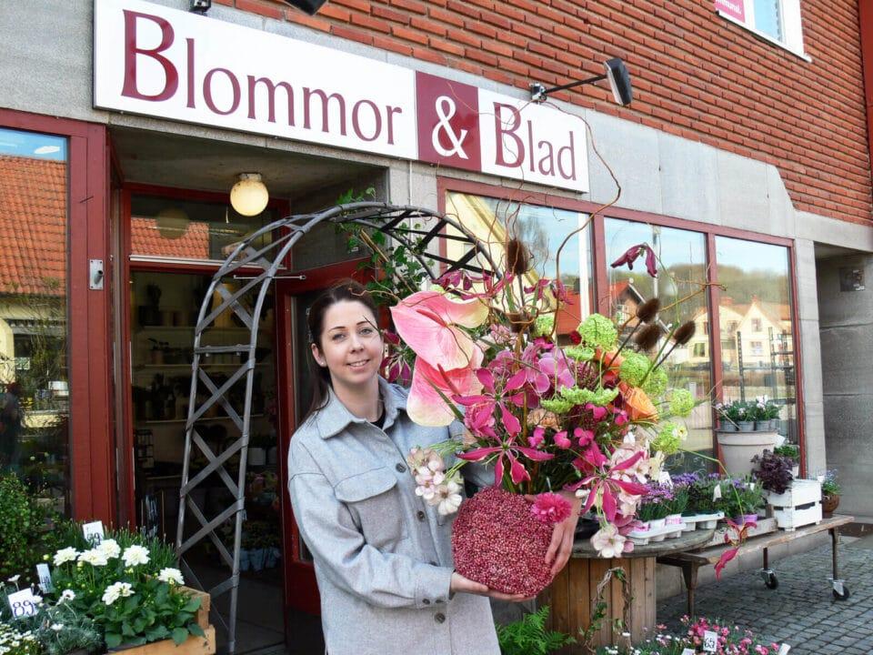 Blommor och blad på SM i blomsterdesign